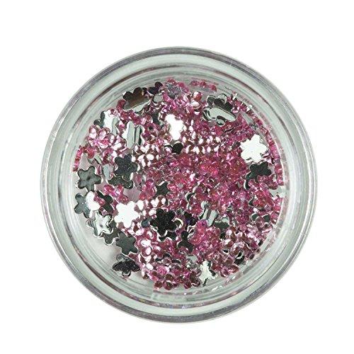 Strass Fleurs Smokey Rose de pierres de strass avec décoration en cristal Rhinestones Nail Art