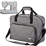 HOMEST Sewing Machine Carrying Case, Universal Tote Bag with Shoulder Strap Fits Most Standard Singer, Brother, Janome, Grey