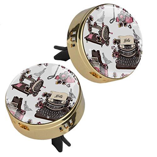 MUOOUM Máquina de coser Vintage Máquina de Coser Coche Perfume Ambientador Coche Clip de Ventilación Fragancia Coche Olor Ambientador Difusor de Perfume