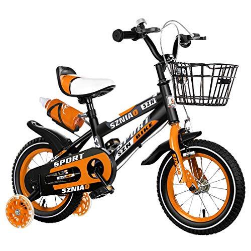 MUYU 12(14,16,18,20) Pulgadas Bicicleta Infantil Bicicleta Niños Niñas Bicicleta con Ruedines por...