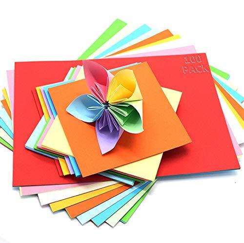 A4 Farbigen Kopierpapier Papier, 100 Blatt,Set aus 10 Farben, bunte Blätter in 80g/m², für Drucker,DIY Kunst Handwerk,Kopierpapier farbig