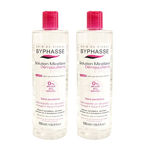 byphasse Micellar maquillaje Remover 500ml. (2unidades)