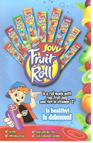 Variety pack of seven (7) 0.75oz Jovy Fruit Roll Snacks: Cherry, Raspberry, Strawberry, Watermelon, Grape, Green Apple and Mango
