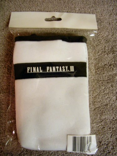 2006 Nintendo DS Lite Limited Edition Final Fantasy III Exclusive Carrying Case w/ Screen Cloth Set