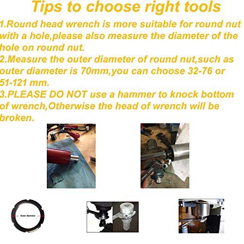Vmotor Chrome Vanadium Adjustable C Spanner Hook Wrench Tool - 3/4-2