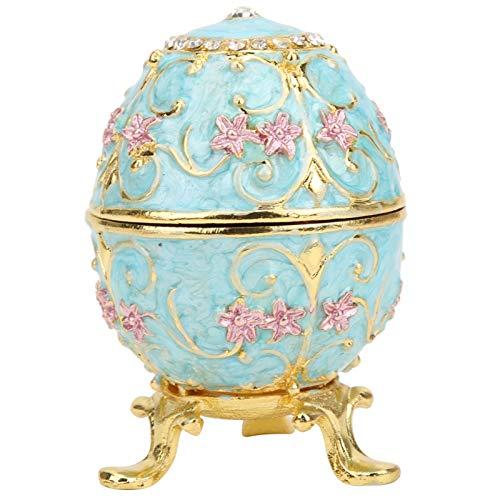 Huevos de Pascua Decorativos Caja de baratijas, Organizador de Joyas de Huevo...