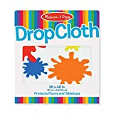 Melissa & Doug Plastic Drop Cloth (Fits Under Deluxe Standing Easel, 3 x 4 feet, Great Gift for Girls and Boys...