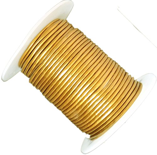 Rockin Beads Gold 1.5mm Buffalo Leather Round Cord 25 Yards