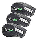 Kingjet Pack de 3 Etiquetas Compatibles como Repuesto para Cinta Adhesiva de Vinilo M21-750-595-WT (Negro sobre Blanco, 12,7 mm x 6,4 m)