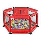 YJZQ - Piscina con bola plegable de tela Oxford con puerta de valla de juego para niños de 6 a 36 meses, bola no incluida