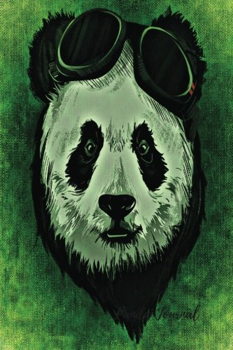 Panda Journal: Green Journal Notebook To Write In For Men, Women, Girls, Boys, Lined, Ruled Journal 6inx9in 200 Pages (Unique Journals)