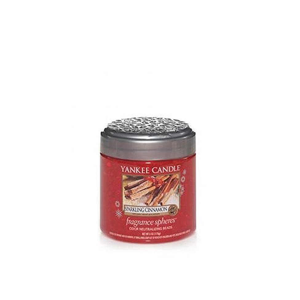 Yankee Candle Sparkling Cinnamon Fragrance Spheres Odor Neutralizing Beads 6oz