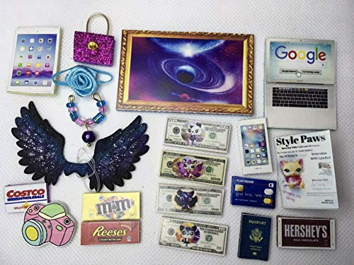 Littlest Pet Shop Custom Galaxy Wings & Accessories 20 Pcs, LPS PET NOT Included