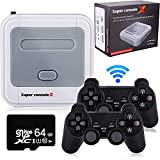 Kinhank Super Console X Video Game Console Built in 33,000+ Games,with 2 Gamepads,Game Consoles for 4K TV Support HD Output, Support 5 Players,LAN/WiFi,Gifts for Men Who Have Everything(SX-64GB)