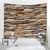タペストリー、3Dストーンブリックプリントタペストリー、壁掛け各種サイズ、ウォールタペストリー、寝室やリビングルームの壁飾りに