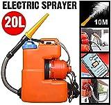 HPDOM 20L Portable ULV Électrique Pulvérisateur Atomiseur Froid Générez Spray Portée Jusqu'à 12 Mètres, Appropriés pour Pelouses, Jardins, Usines Nébulisateur Désinfection Machine