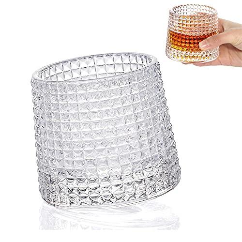 Bicchieri di Whisky Glass,Tumbler Rum Bicchiere Vino,Bicchieri Vino Personalizzato Bicchieri di Cristallo Bar Tumbler,Vetro Cristallo Cocktail,Bicchieri per Bourbon Rum Bar Tumbler (A)