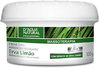 Creme para Massagem Relaxante Erva Limão, D'agua Natural, 300 g