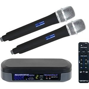 VocoPro TabletOke-II Digital Karaoke Mixer with Wireless Mics, Bluetooth Receiver, (2) WHF-158 Foam Windscreen and AA LR6 Alkaline Battery (4-Pack)