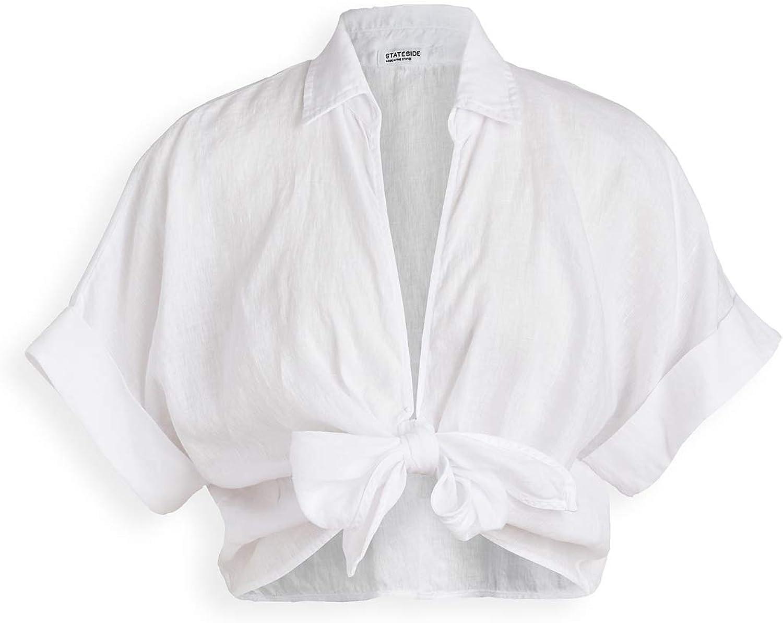 Stateside Womens Linen Button Up Tunic