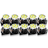 LBRST T10 LED Dash Light Bulbs White 194 168 LED Light Bulbs Instrument Panel Gauge Cluster Indicator Lights with Sockets,10Pack