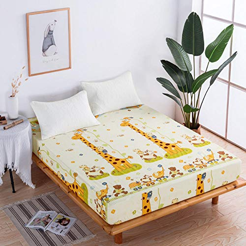 XGguo Protector de colchón Acolchado - Microfibra - Transpirable - Funda para colchon estira hasta Sábana Impermeable cepillada impresión en Color sólido-16_120x200x28cm