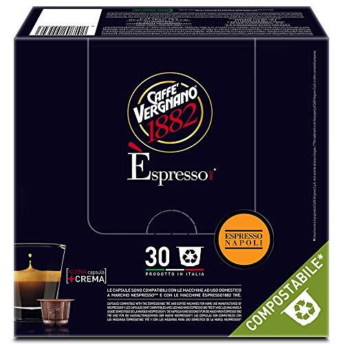 Caffè Vergnano 1882 Èspresso Capsule Caffè Compatibili Nespresso Compostabili, Napoli - 8 confezioni da 30 capsule (totale 240)