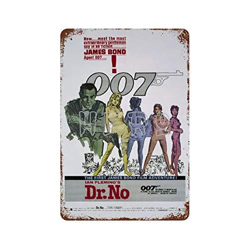 Connery James Bond 007 Serie de Películas Sexy Belleza Medias (15) Vintage Tin Sign Art Iron Painting Rusty Poster Decoración Placa de aluminio interesante personalidad Banda película Para Hotel Cafe