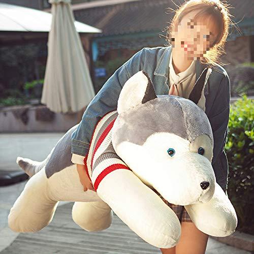 Zacht speelgoed,Husky Knuffel Hond Kussen Kussen Hond Pop Schattige Lappenpop Pop Hond Jaar Mascotte Meisje 50cm a