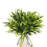 Artificial shrub height: 14.1 inches; pack of 6 (vase is not included ); the leaves of each shrub can be adjusted freely; after receiving the goods, you can freely adjust their shape without worrying about bending Fake greenery offer such a hassle fr...