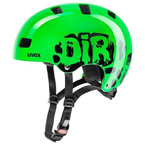 Uvex Kinder Fahrradhelm Kid 3, Grün (Dirtbike Green), 55-58 cm