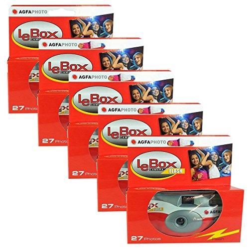 5x EDITION PHOTO PORST Einwegkamera / Hochzeitskamera / Partykamera Agfa ( 27 Fotos, Blitz, 5-er Pack )