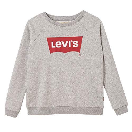 Levi's kids Nn15567 Sweat Shirt Sudadera, Gris (China Grey 20), 16 años (Talla del Fabricante: 16Y) para Niñas