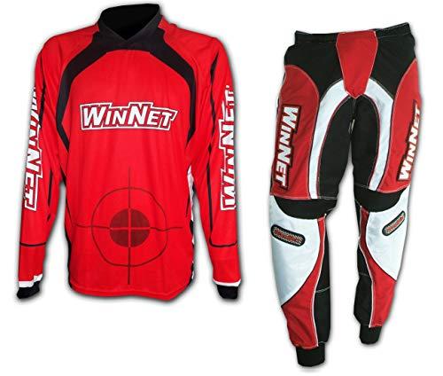 WinNet completo tuta per moto da cross enduro maglia + pantaloni (M)