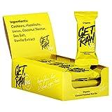 Dig/Get Raw - Barrita de avellana y caramelo orgánico - ingredientes orgánicos y naturales - Vegano, sin gluten y refinado, sin azúcar - 12x42g