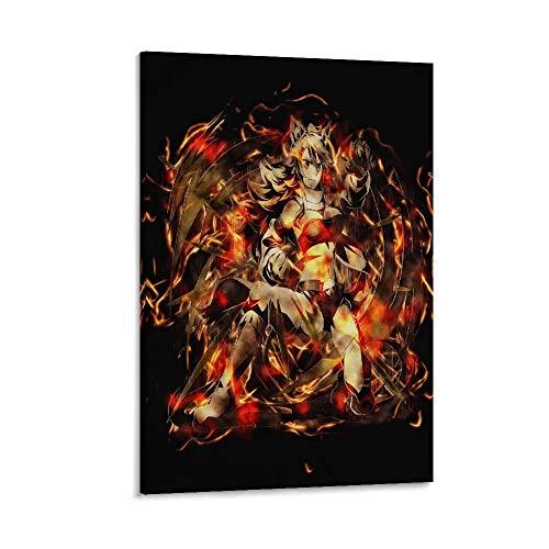 yanhony Póster decorativo de Akame Ga Kill Leone Anime Girl para pared, lienzo para sala de estar, dormitorio, 60 x 90 cm