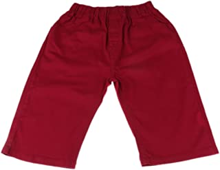 Generic Comfortable Cotton Blend Boys Fifth Pants Kids Slim Fitted Pantaloons Capris New