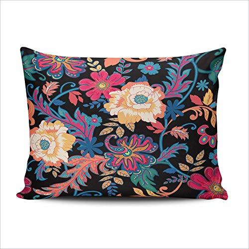 SUN DANCE Funda de cojín con diseño de flores tropicales y globos de aire caliente para decoración del dormitorio, diseño de Hello Summer Holiday