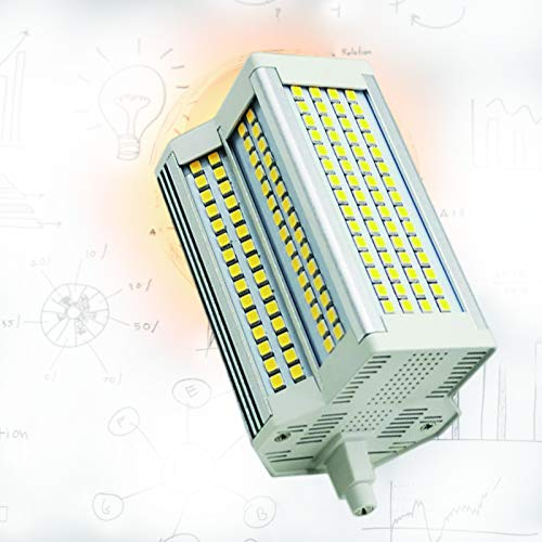 R7S LED 118mm 50W Regulable 3000-6000K Tipo J Bombilla J118 500W Reemplazo de Bombilla halógena de Doble Punta 5400LM AC110-240V