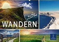 Wandern - die Welt erwartet Dich (Wandkalender 2022 DIN A2 quer): Wandern - Erholung fuer Seele, Koerper und Geist. (Monatskalender, 14 Seiten )