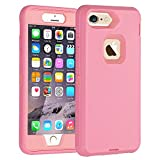 Co-Goldguard Case for iPhone 6s Plus/6 Plus Heavy Duty 3 in1 Built-in Screen Protector Cover Dust-Proof Shockproof Scratch Resistant Shell Compatible with Apple iPhone 6s+/6+,Pink