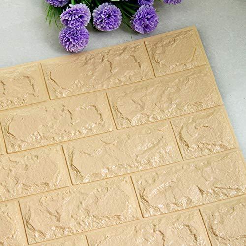 Piedra de Ladrillo Paneles de Pared Autoadhesivos Pegatinas de pared autoadhesiva 3D Imitación de paneles de ladrillo Dormitorio Detalle Decoración para el hogar Fondo de pantalla impermeable Cocina S