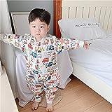 Saco de Dormir con Mangas Largas Desmontable para Niños ,Las piernas de bambú y algodón de los niños son sacos de dormir, y el bebé se separa de las piernas.,manga larga, saco de dormir de invierno