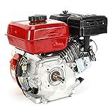 Jintaihua Motor de Gasolina, Motor de Kart, Motor de Barco (7,5 HP 5,1 kW, Eje, protección contra bajo Nivel de Aceite, Motor monocilíndrico de 4 Tiempos refrigerado por Aire, Arranque de Retroceso)