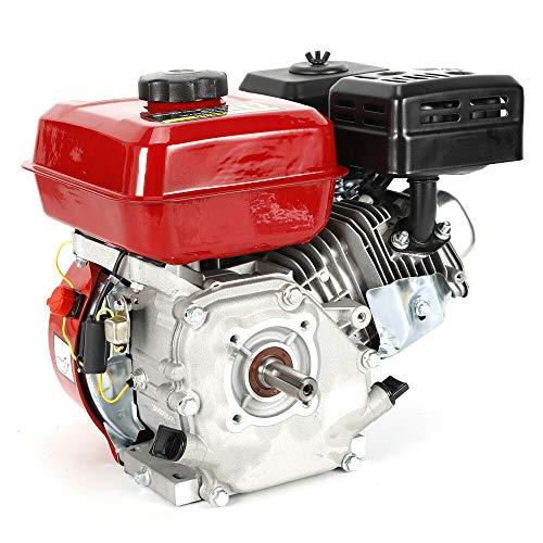 4-Takt 7,5 PS 5100W Benzinmotor Kurbelwelle Benzin Wasserpumpe Motorpumpe Standmotor Kartmotor Einzylinde Enginefür Wassertransferpumpe Freischneider Gokart