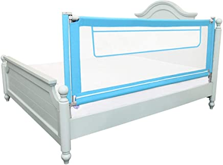 WANNA ME Baby Playpen Baby anti-fall bed guardrail baffle newborn infant child prevention big bed fence baffle Strong And Durable Made From Non-To  color Blue  Size 180CM
