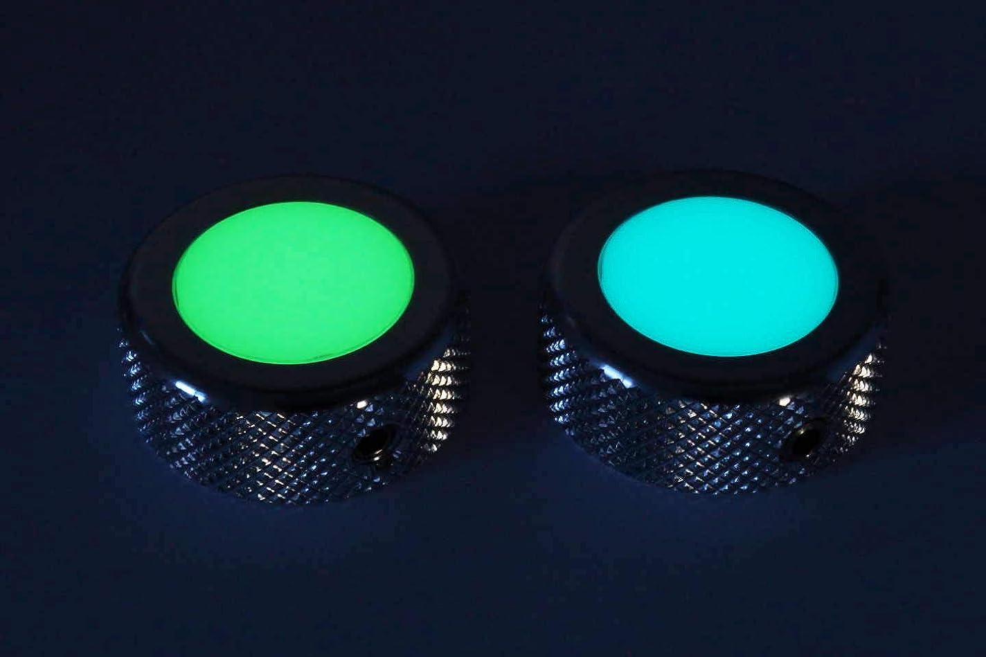 結婚式でる吸収剤Luminlay 高輝度蓄光フットスイッチカバー 1個 (10mm穴, ブルー発光)