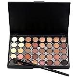 Creazy Cosmetic Matte Eyeshadow Cream Makeup Palette Shimmer Set 40 Color+ Brush Set (A)