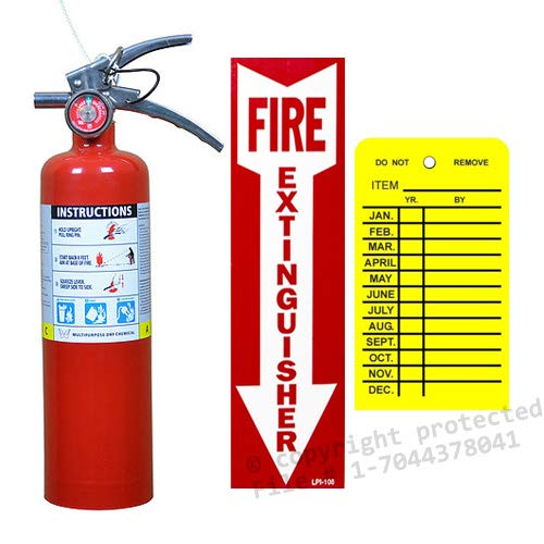 Victory 2 1/2 Lb. Type ABC Dry Chemical Fire Extinguisher, with 1 - Vehicle Bracket