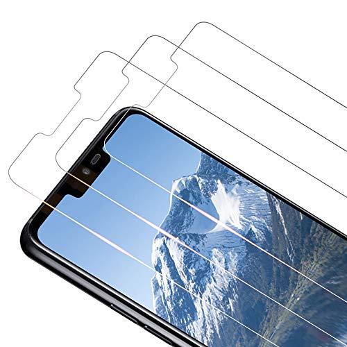 TOCYORIC Vetro Temperato Pellicola Protettiva per LG G7 ThinQ [3 Pezzi] Protezione Schermo [Durezza 9H] [Anti-Bubble][Antigraffio] Vetro Temperato Screen Protector per LG G7 ThinQ